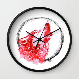 Red Wolf - Print Wall Clock