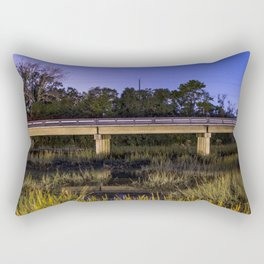 Long Exposure of Lazaretto Creek Bridge Rectangular Pillow