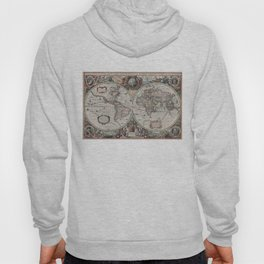 Vintage Map of The World (1630) Hoody