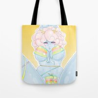 coraline Tote Bags featuring Coraline by KazuneKoi