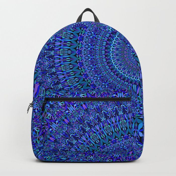 Blue Floral Ornate Mandala Backpack