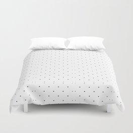 Black white geometrical polka dots modern pattern Duvet Cover