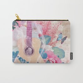 Floral Guitar Carry-All Pouch