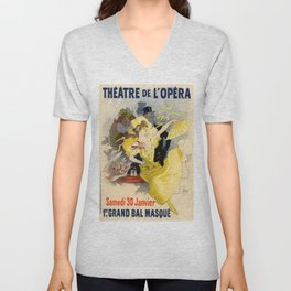 Belle Epoque vintage poster, French Theater, Theatre de L'Opera Unisex V-Neck