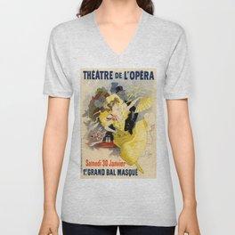 Belle Epoque vintage poster, French Theater, Theatre de L'Opera Unisex V-Neck