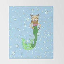 Mer-Cat Throw Blanket