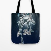 daft punk Tote Bags featuring Daft Punk by alexviveros.net