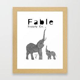 Fractal Elephant Framed Art Print