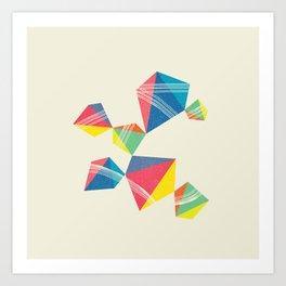 Cubical+Line Art Print