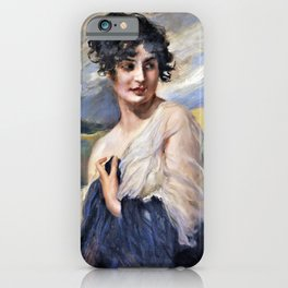 Leopold Schmutzler - Portrait of a lady - Digital Remastered Edition iPhone Case