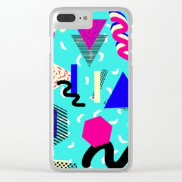 80's / 90's Pattern Clear iPhone Case