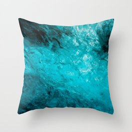 Ice Cave01 Throw Pillow