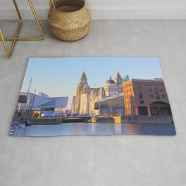 Albert Dock And the 3 Graces Rug