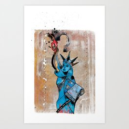 Give me Oil or Gie me Death Art Print