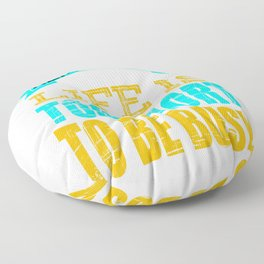 """""""Remember That Life is Too Short To Be Busy"""" tee design for busy peoples out there!  Floor Pillow"""