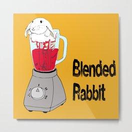 Blended Rabbit Metal Print