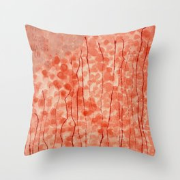 Dappled Coral Throw Pillow