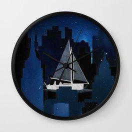 City Sailing Wall Clock