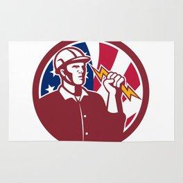 American Lineman USA Flag Icon Rug