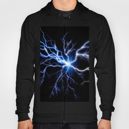 Blue Thunder Colorful Lightning digital impression Hoody