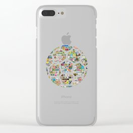 Philately Soccer Ball Clear iPhone Case