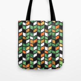 Herringbone Golden Jade Tote Bag