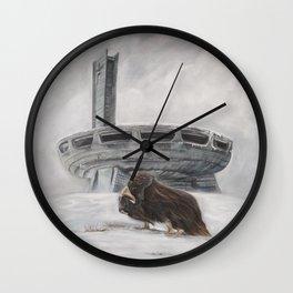The Lone Musk Ox Wall Clock