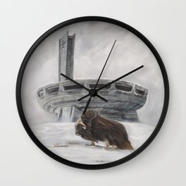 The Lone Musk Ox Wall Clock
