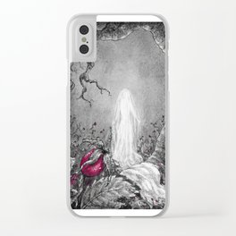 The lady of winter Clear iPhone Case