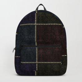 Medieval Damask Patchwork Backpack