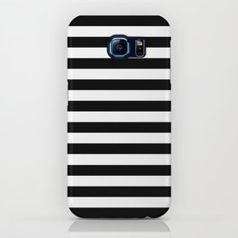 Modern Black White Stripes Mon...