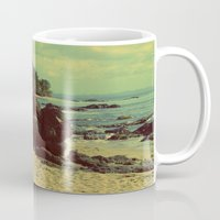 puerto rico Mugs featuring Puerto Rico Heart along the Beach by shari hochberg
