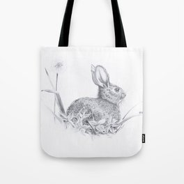 Bunny in the Field Tote Bag