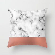 Marble & copper Throw Pillow