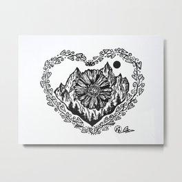 """Heart in the Highlands"" Scotland, Scottish Art, Irish Artwork, Celtic Decor Metal Print"