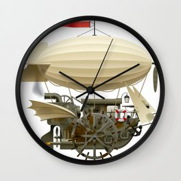 Flying Ship Wall Clock