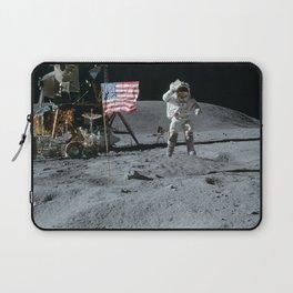 Apollo 16 - Astronaut Moon Jump Laptop Sleeve
