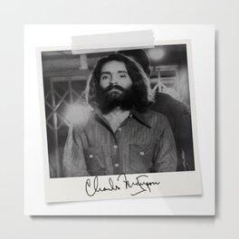 Manson Charles Signature Prison Metal Print
