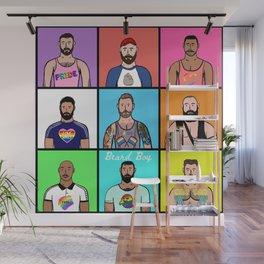 Beard Boy: Gay Pride Wall Mural