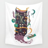 power Wall Tapestries featuring Power Trio by Hector Mansilla