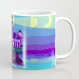 Projections III: Pixel Bay Lighthouse Coffee Mug