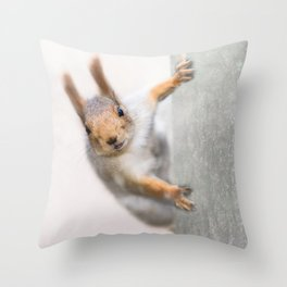 Squirrel - Who are you? Throw Pillow