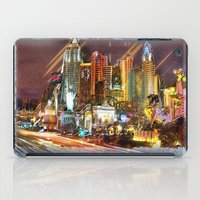 las vegas iPad Cases featuring Vegas by Robin Curtiss