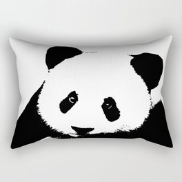 Giant Panda in Black & White Rectangular Pillow