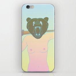 bat bear iPhone Skin