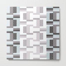 Border Geometric Metal Print