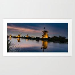 Dutch Wind Mills Art Print