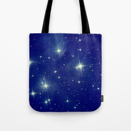 Blue starry night Tote Bag
