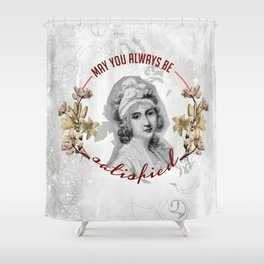 satisfied Shower Curtain