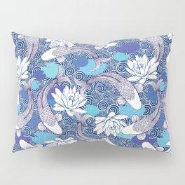 Blue Koi Ripples Pillow Sham